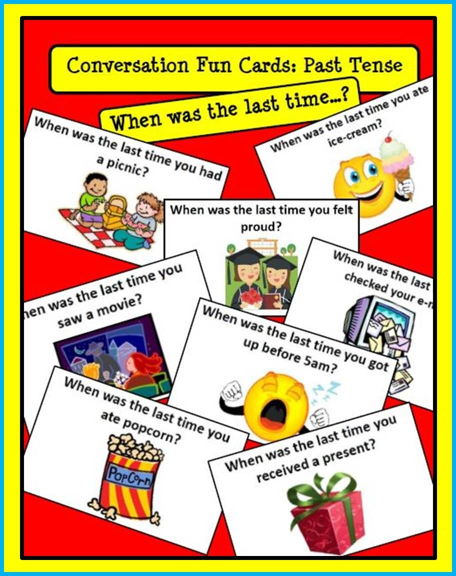 Esl Speaking Activities Esl Past Tense Newcomer Activities With