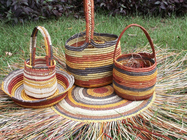 Aboriginal Basket Weaving Artistry In Craftwork