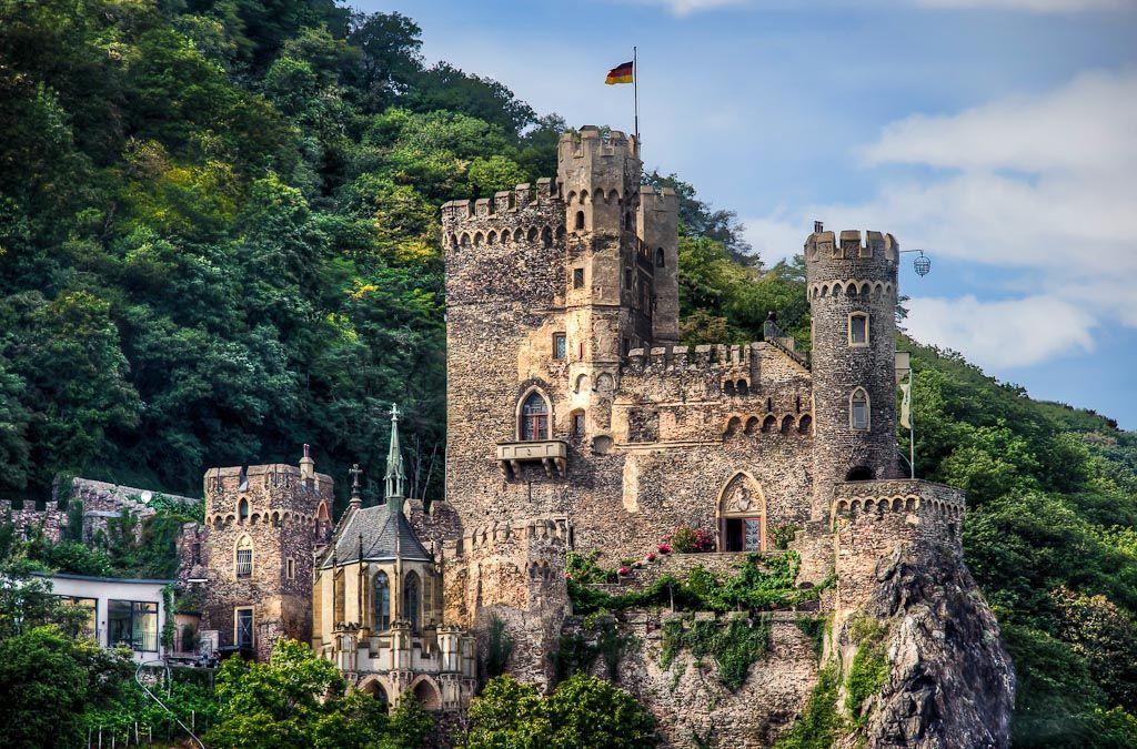 Rhine River Protector, Rheinstein Castle, Rhine River, Assmannshausen, Germany - Photo by Len Saltiel
