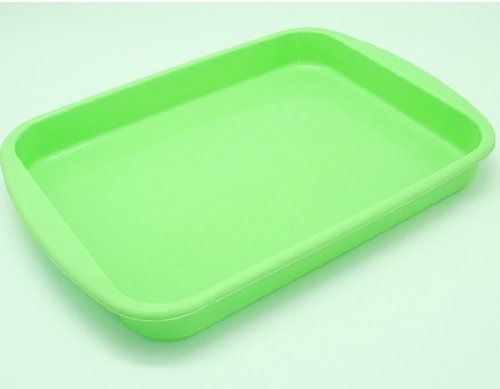 Allforhome 9 Inches Rectangle Cake Baking Mold Tray Nonstick Flexible Silicone Bakeware Pizza Mould Cake Pans Soap DIY Mold Candy Bread Loaf Toast Mold Multifunction