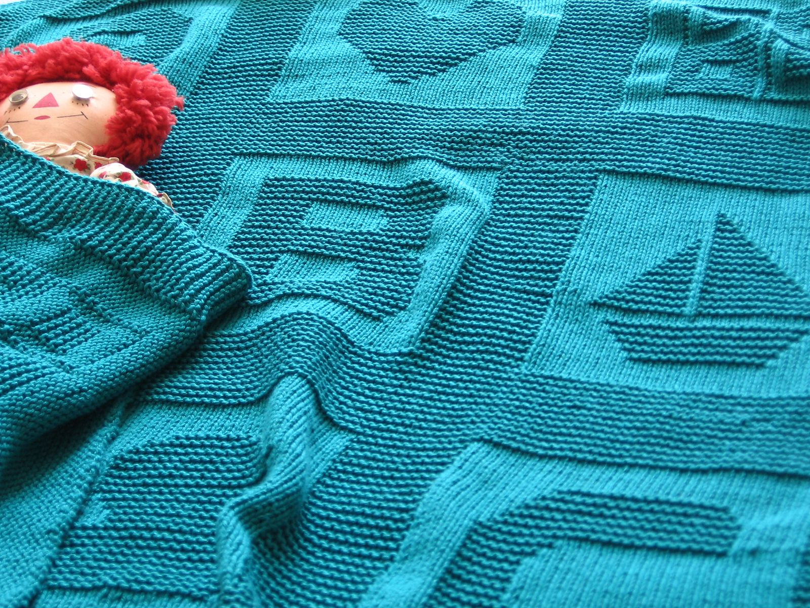 ABC Baby Blanket pattern by Jenny Williams | Knitted baby ...