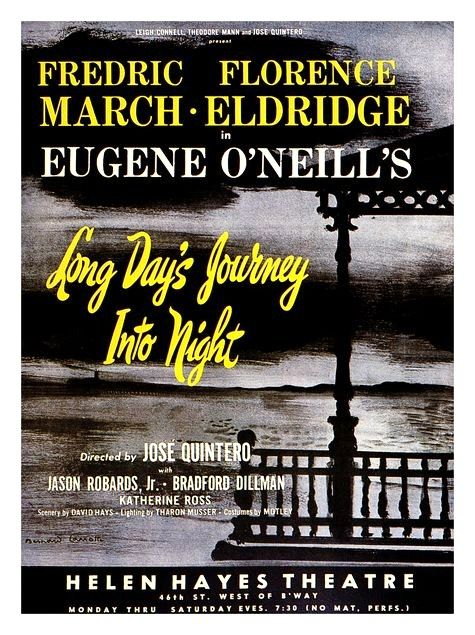 Vintage Theatre Poster Long Day S Journey Into Night Helen