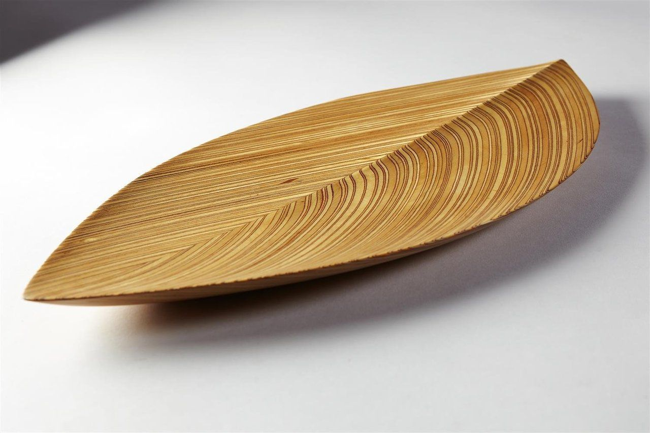 Tapio Wirkkala, rare plywood plate. Source: Modernity.se