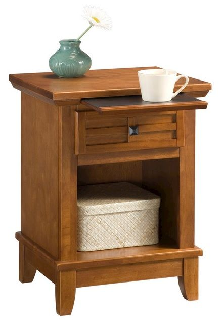 Home Styles Arts Crafts Nightstand End Table Framed Drawer Cottage Oak Finish In Garden Furniture Nightstands