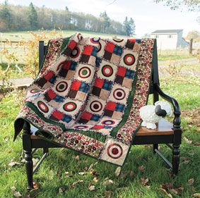 """My sheep I made is a supermodel!  Ann's quilt design """"Raggy Penny"""" in flannel from ConnectingThreads.com #quilt #flannel #sheep"""