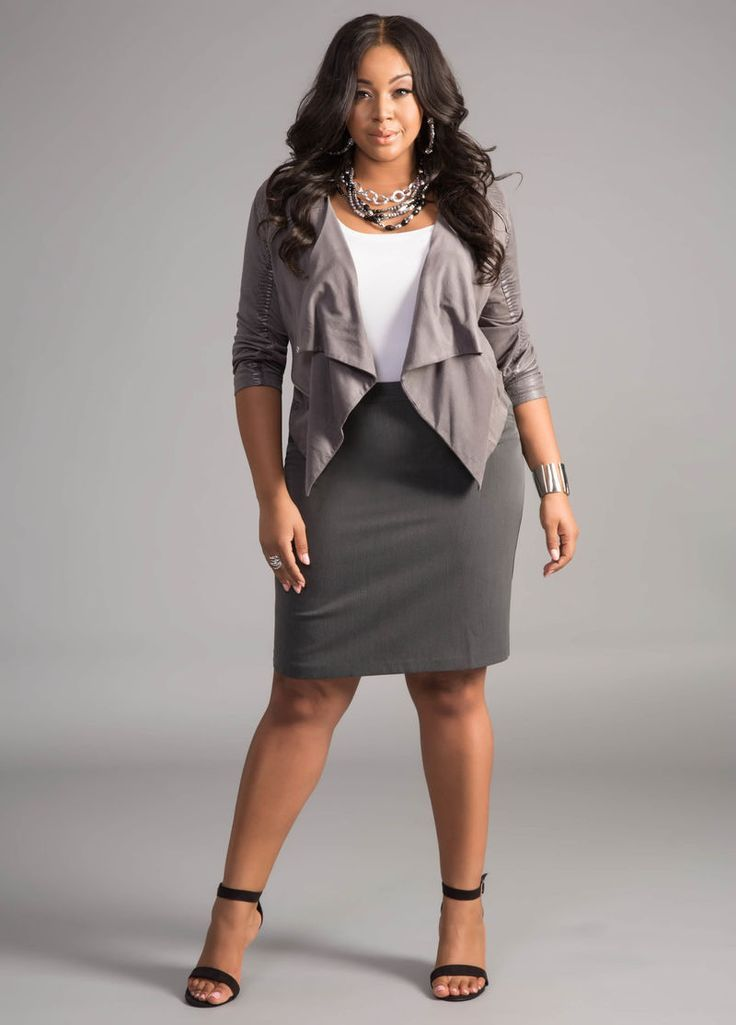 4f69b961ef8 Plus Size Suiting and Wear to Work Options with Ashley Stewart  Grey ...
