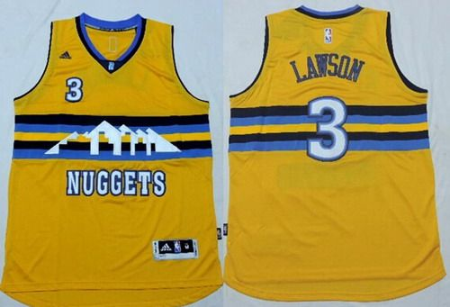 5f9814873 ... NBA Jersey Mens Denver Nuggets Ty Lawson Revolution 30 Swingman 2014  New Yellow Jersey adidas ...