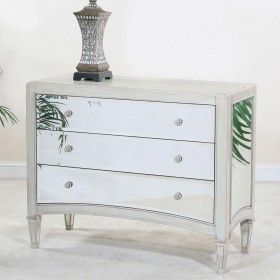 Ultimate Accents Manhattan Mirrored 3 Drawer Accent Chest $765.00