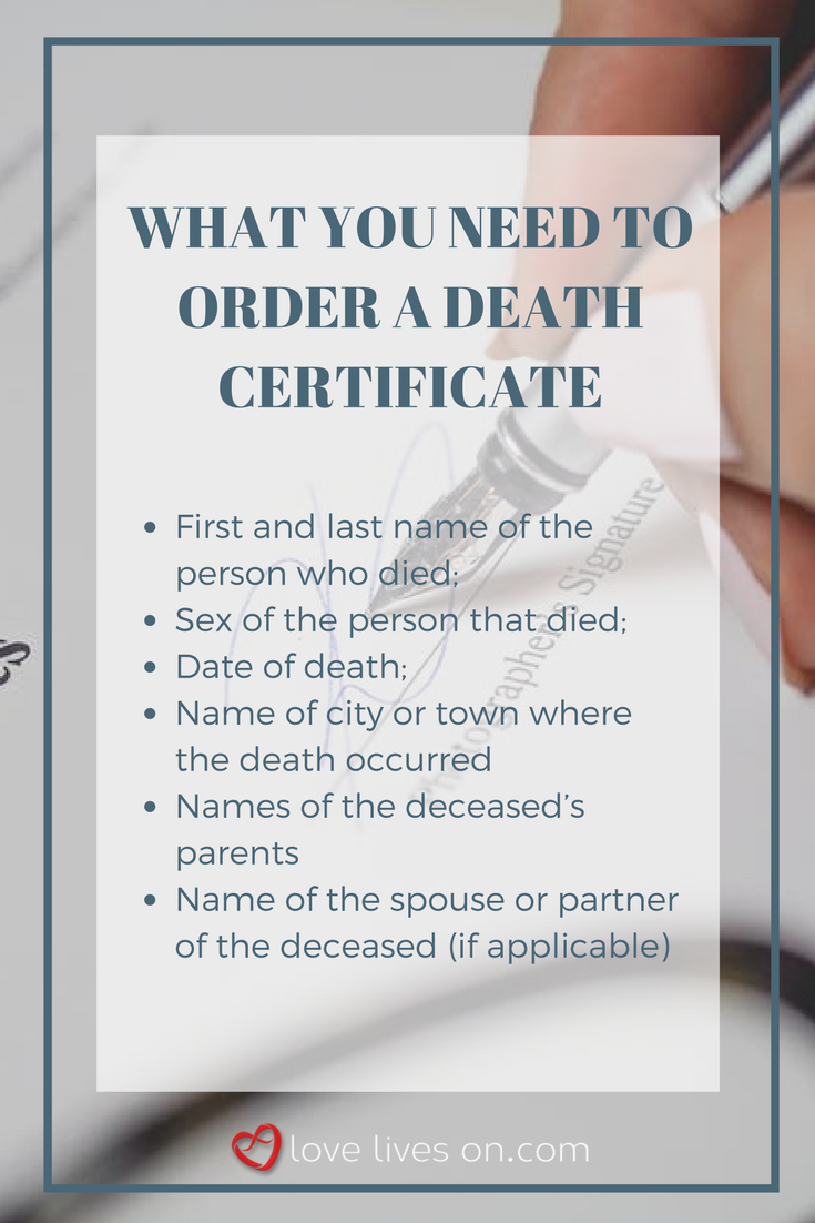 The death certificate how to get one death certificate what you need to order a death certificate find out 11 reasons why you must 1betcityfo Image collections