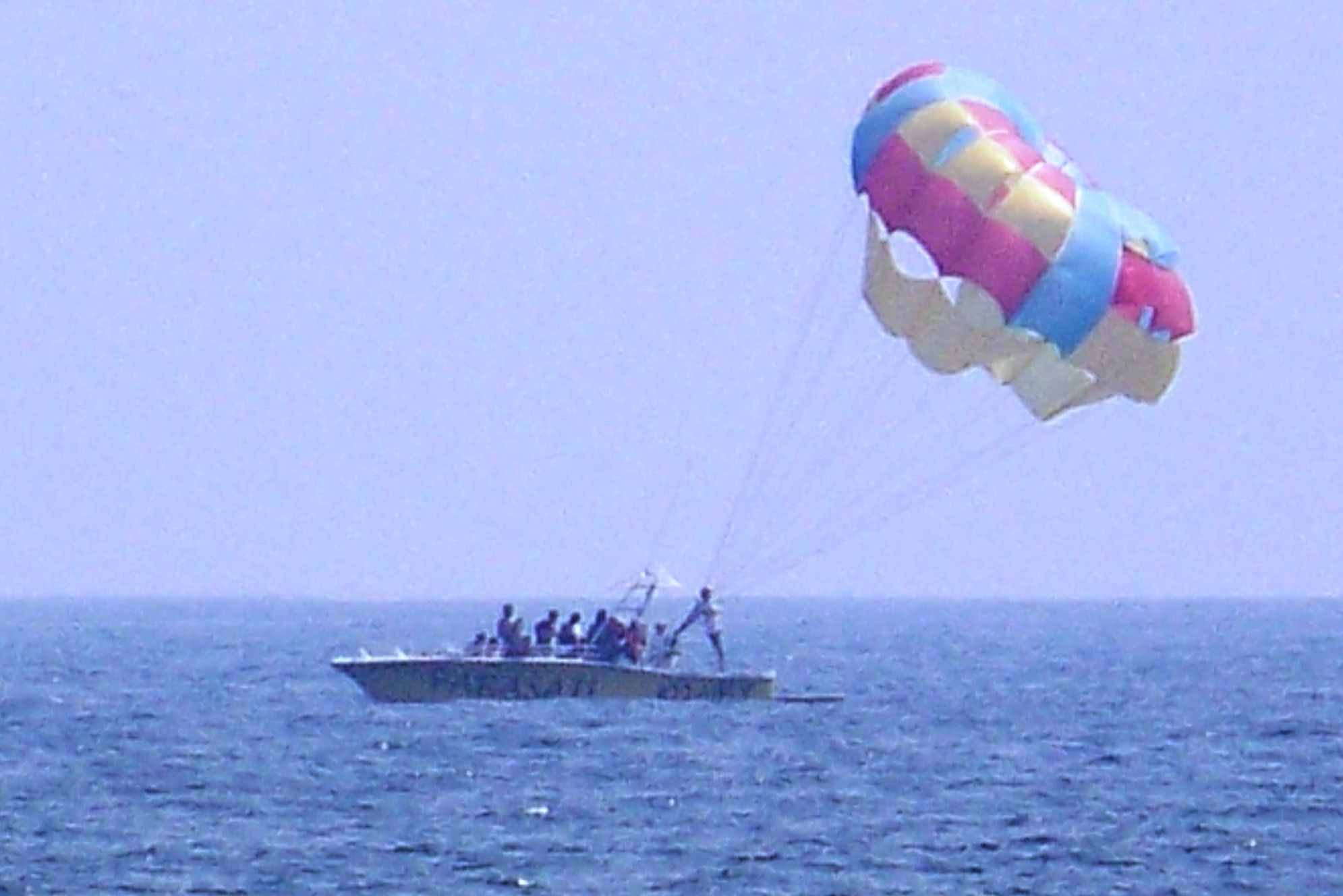 Parasail boat at Virginia Beach, VA
