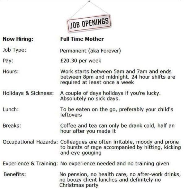 Job Description Of A Mother  Journey Of A Mother