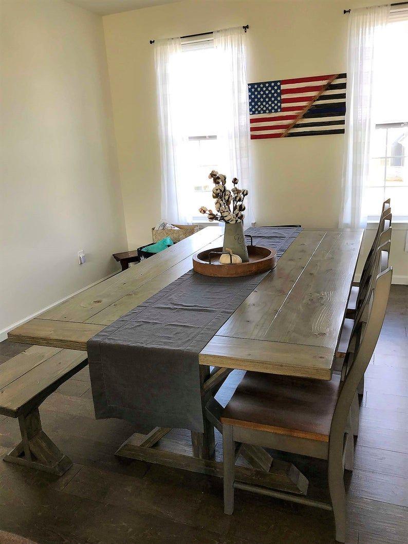 Rustic Farmhouse Table Etsy In 2020 Rustic Farmhouse