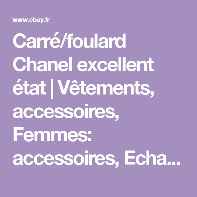 Carré foulard Chanel excellent état   Vêtements, accessoires, Femmes   accessoires, Echarpes 2e1b9594d90