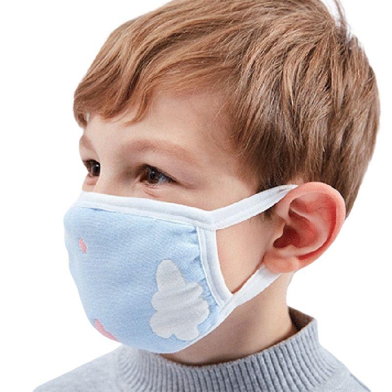 Kids Boys Cute Cotton Cartoon Mask Children Breathable Face Mask Random