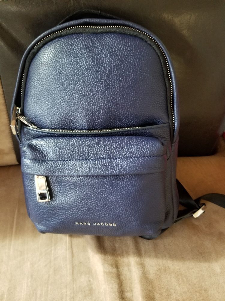 4925fc036d61b Marc Jacobs Varsity Mini Indigo Leather Backpack M0013560-001  395 NEW   fashion  clothing  shoes  accessories  womensbagshandbags (ebay link)