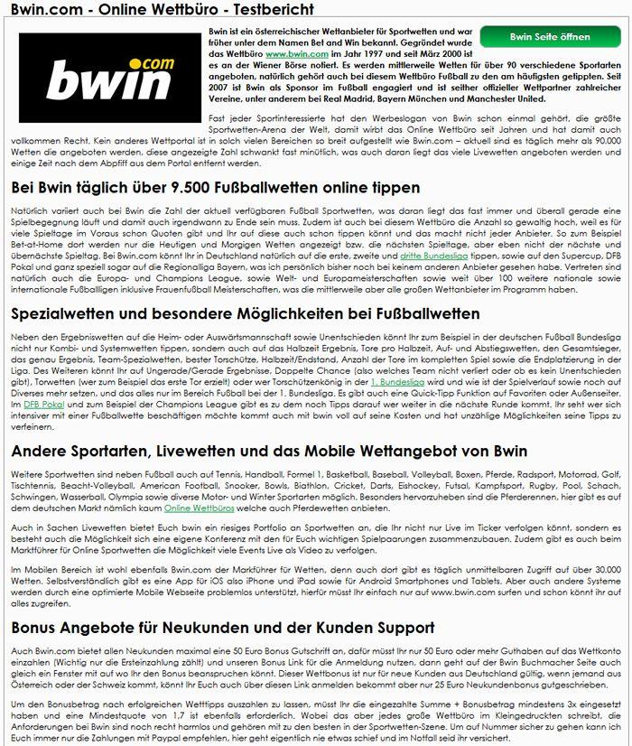 Bwin Com Sportwetten