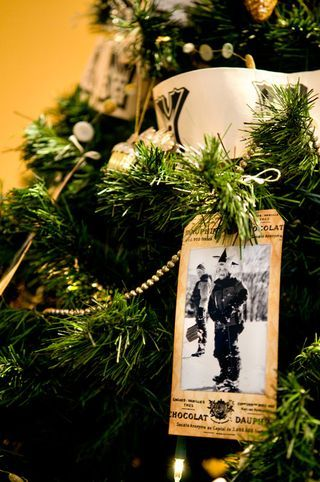 Love the idea of tags with photos on a Christmas tree. Great to see how kids or grandkids grew over the years.