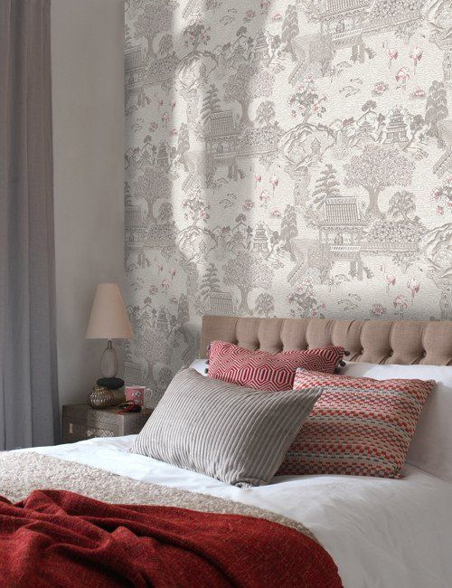 98570 Kyoto is a beautiful Blue / Silver Floral Wallpaper from Holden Decor