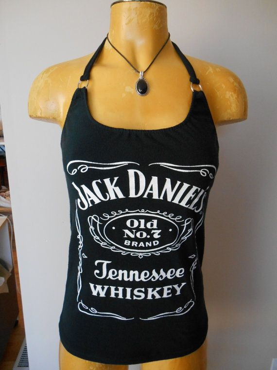 e5dc63282795c Jack Daniels halter top Diy Whiskey Bartender by harleyone on Etsy ...