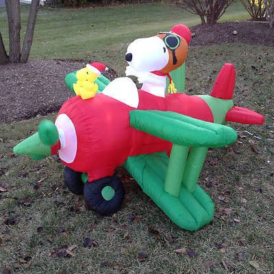 Snoopy And Woodstock Christmas Inflatable.Details About New Christmas Airblown Inflatable Snoopy