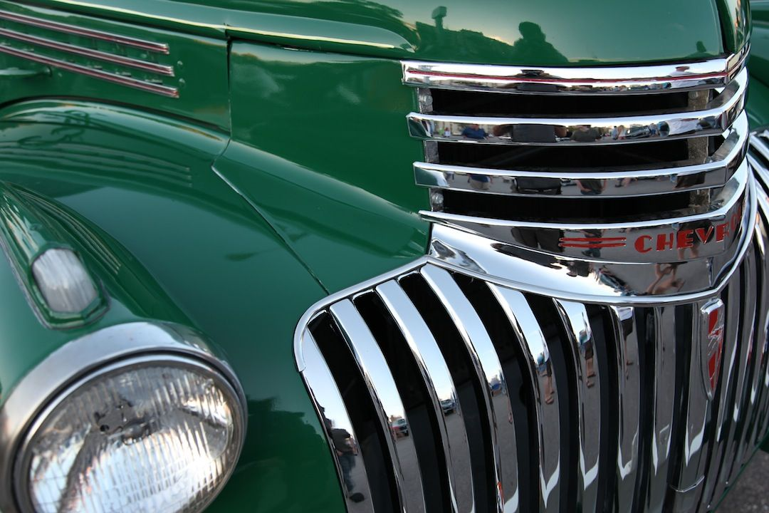 Old Chevy Truck Front Grill Detail, Winnipeg, Manitoba, Canada ...