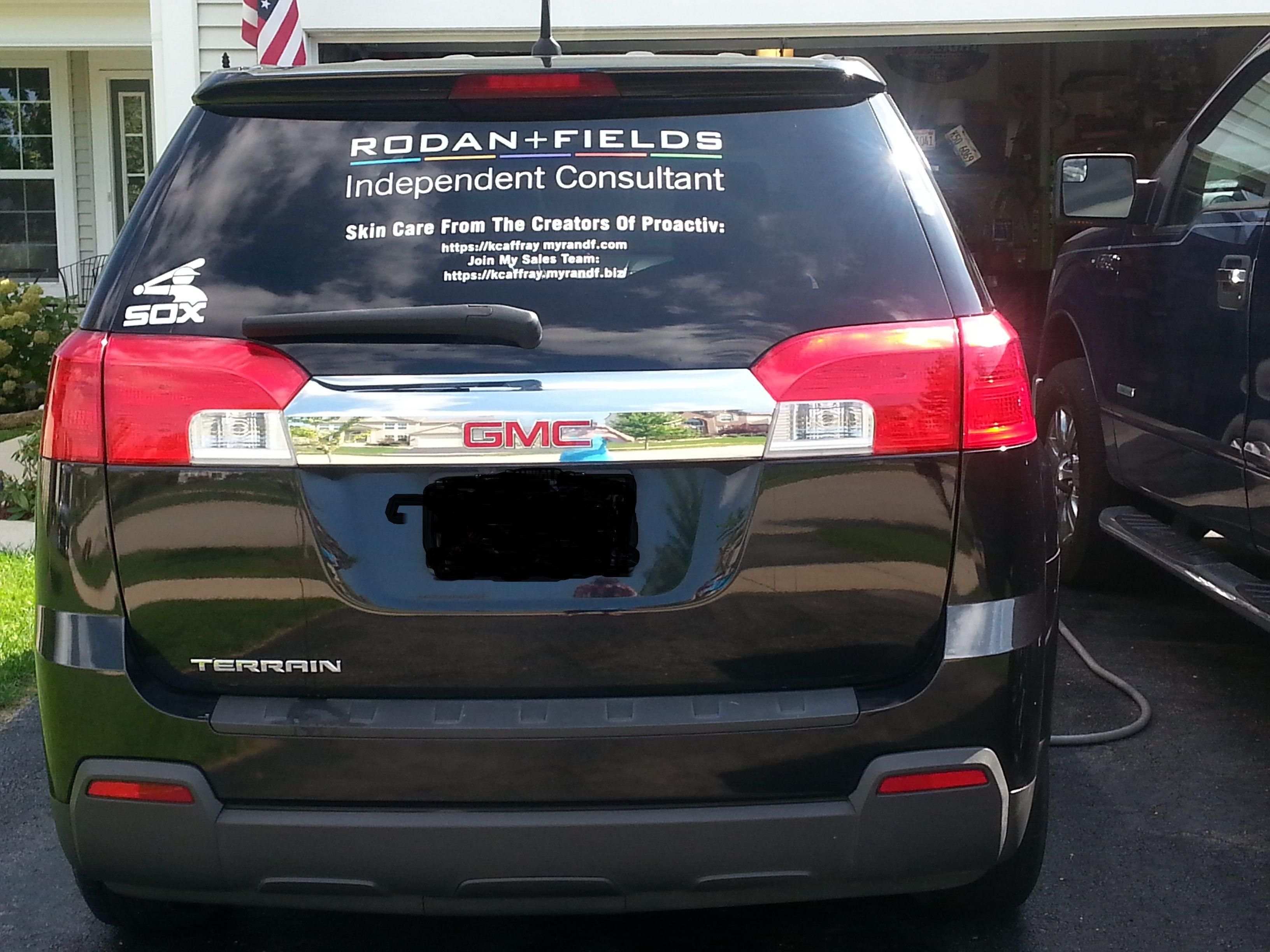 Car Window Decal To Promote My RF Business ACDurbanmyRandFcom - Business car window sticker