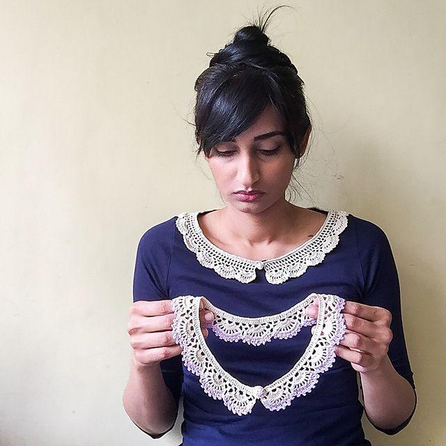 Ravelry A Lace Collar Pattern By Lakshmi Ravi Narayan Knitty