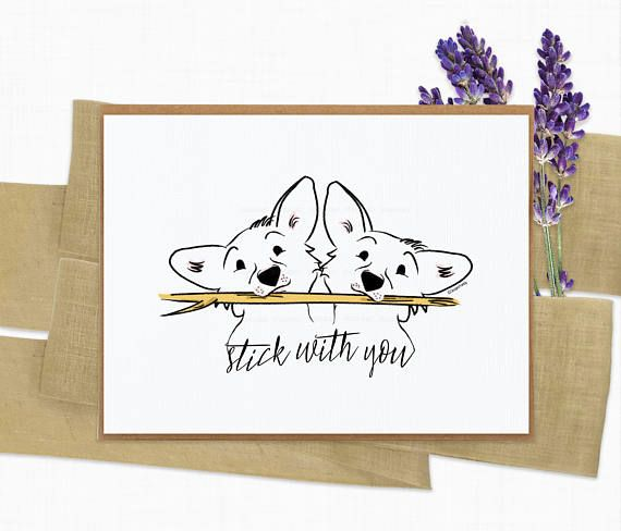 Corgi Pun Greeting Card Birthday Love Corgi Dog Pun Card