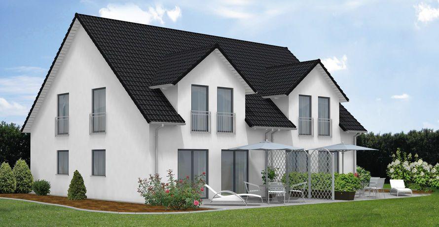 fcn haustyp doppelhaus family110 mit massiven haufwerksporigen au en und innenw nden aus fcn. Black Bedroom Furniture Sets. Home Design Ideas