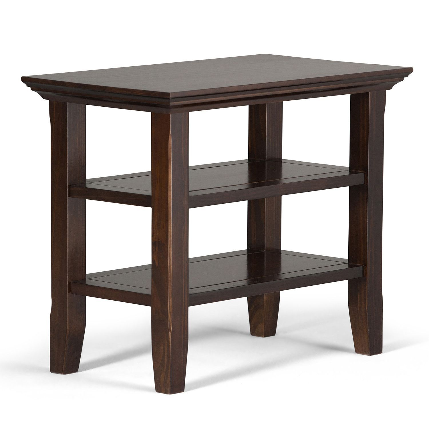 Acadian 14 X 24 20 Inch Narrow Side Table In Brown
