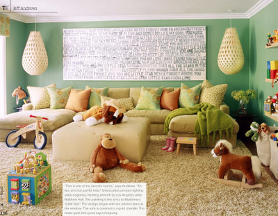 family playroom -- cozy and comfortably messy!