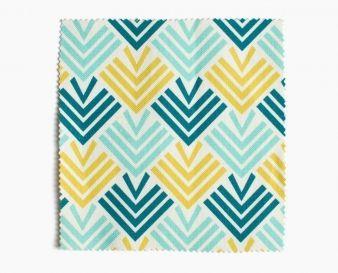 tissu ameublement entrelacs bleu jaune fabric. Black Bedroom Furniture Sets. Home Design Ideas