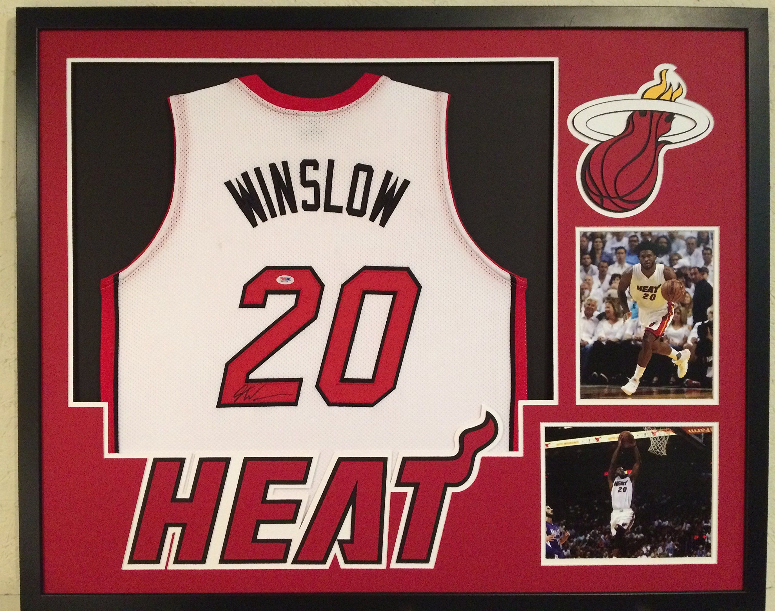 734fc7a7a ... Justise Winslow Autographed Custom Framed Miami Heat Jersey PSADNA COA  -- Awesome products selected by ...