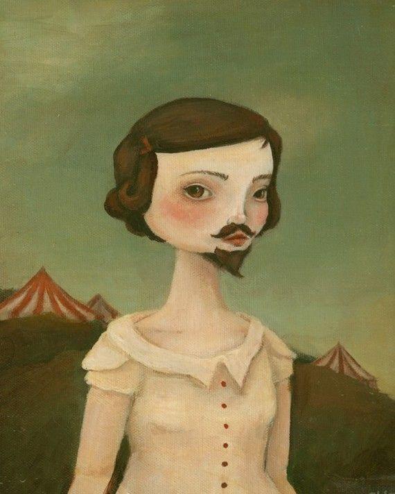 The Bearded Lady. Esty/theblackapple.