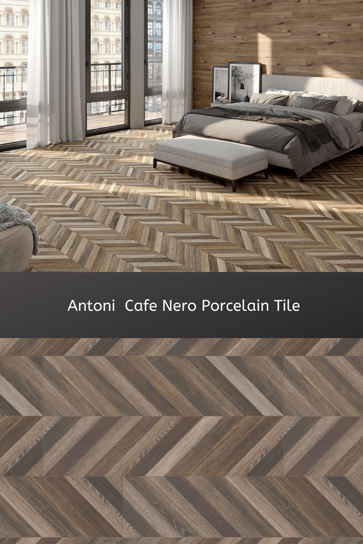 antoni cafe nero porcelain tile wood
