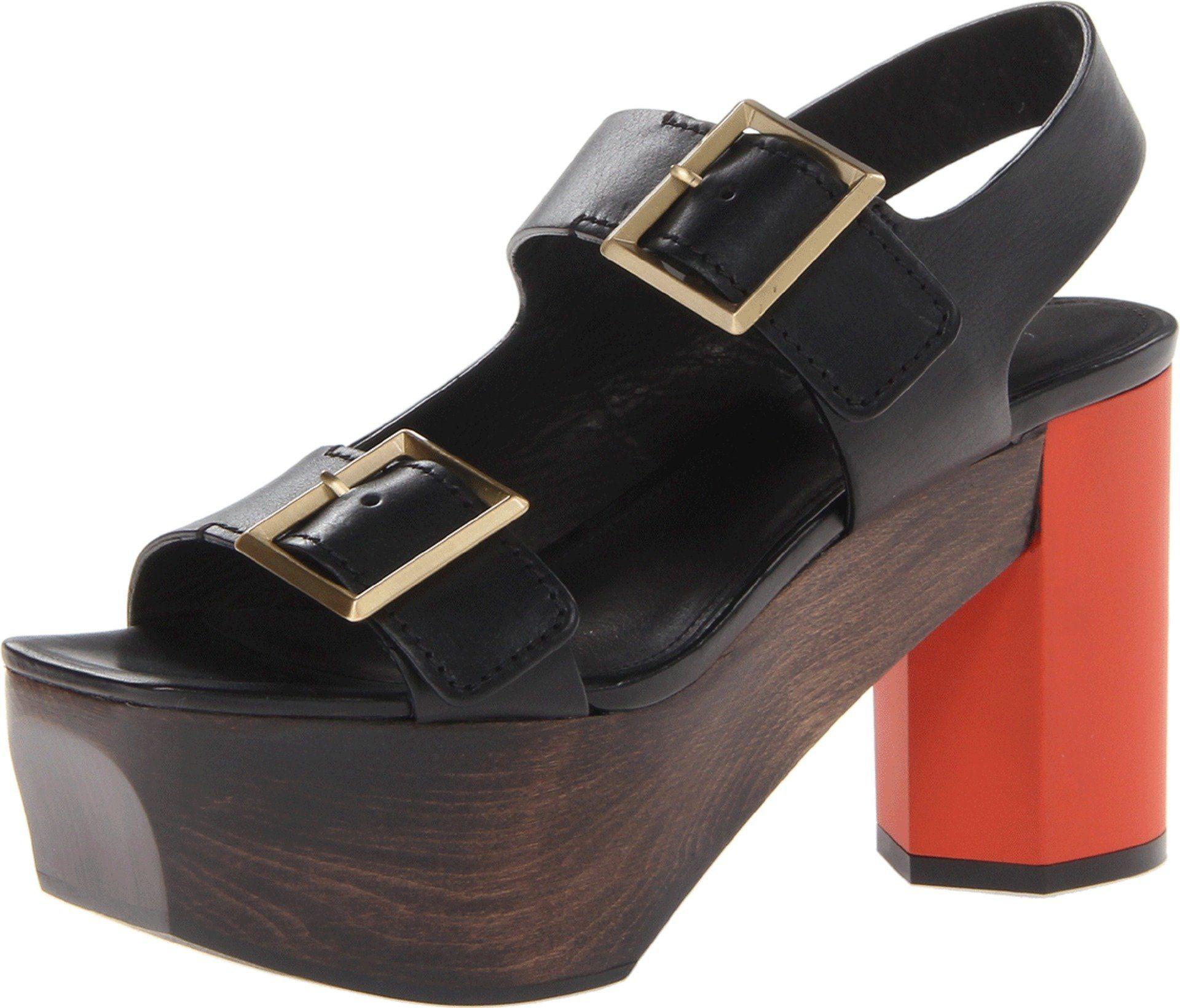 Calvin Klein Collection Women's Ellen Dress Sandal,Black,38 EU/7.5 M US