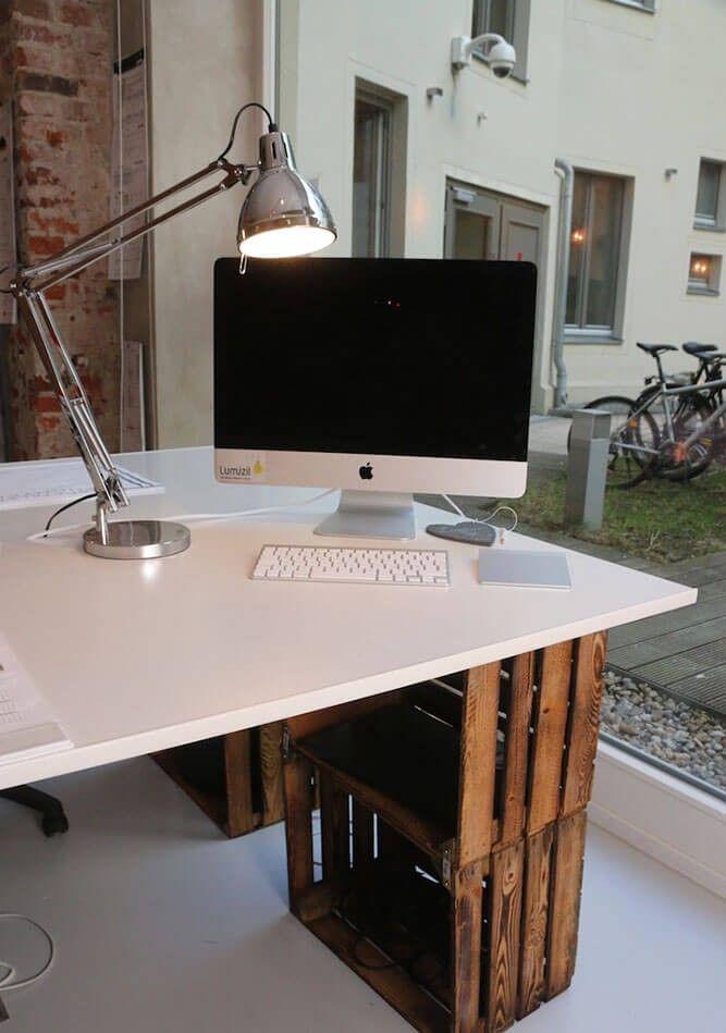 Industrielle Tischlampe Deventer und DIY Schreibtisch mit - schreibtisch diy