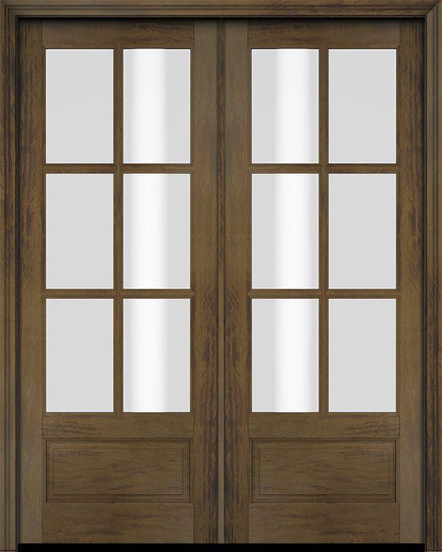 3 4 6 Lite Tdl Mahogany Double Door Double Doors Interior French Doors Exterior French Doors With Screens