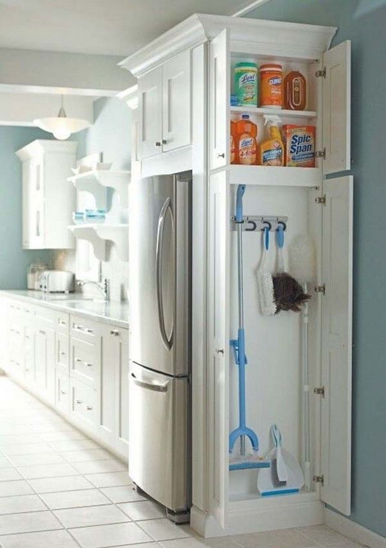 Exceptional Small Home Improvement Ideas Part - 7: Install A Small Closet In The Kitchen To Store Cleaning Supplies - 37 Home  Improvement Ideas