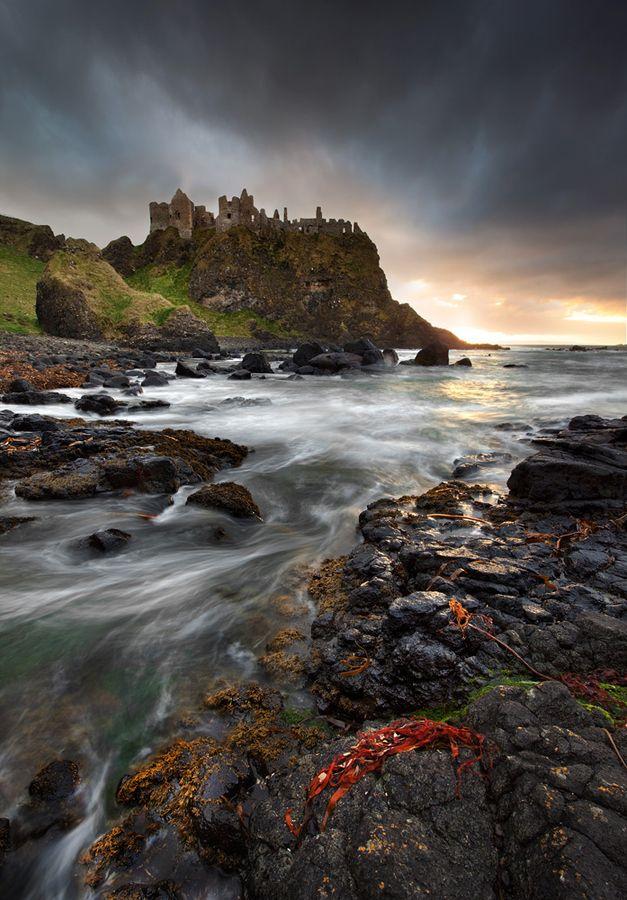 Dunlace Castle, Antrim, Northern Ireland, UK