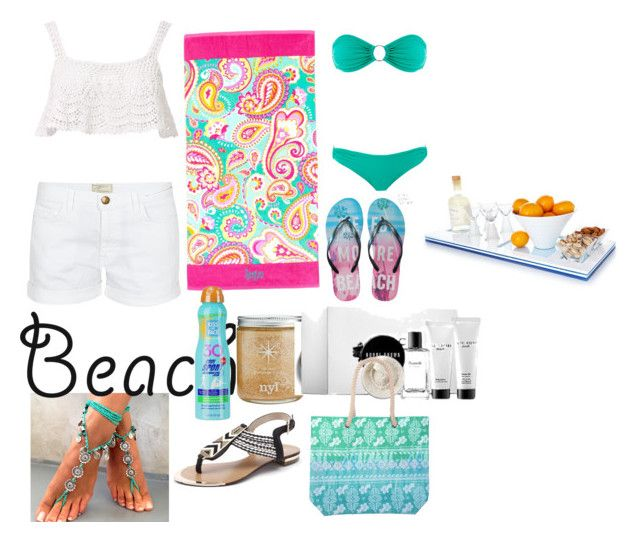 """""""summerdate"""" by rose-ganda ❤ liked on Polyvore featuring Beauty & The Beach, Current/Elliott, Aéropostale, Melissa Odabash, Kiss My Face, Bobbi Brown Cosmetics, beach and summerdate"""