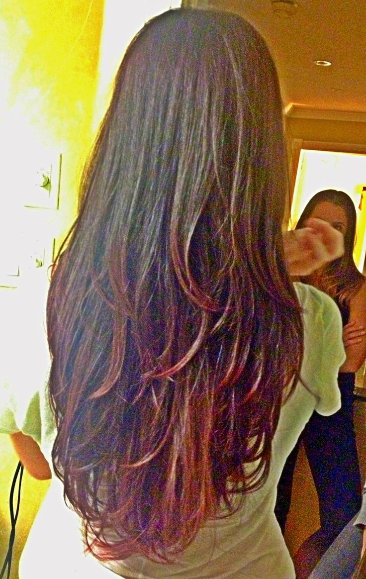 New hair cut and color. Long hair with layers, ion medium intense ...