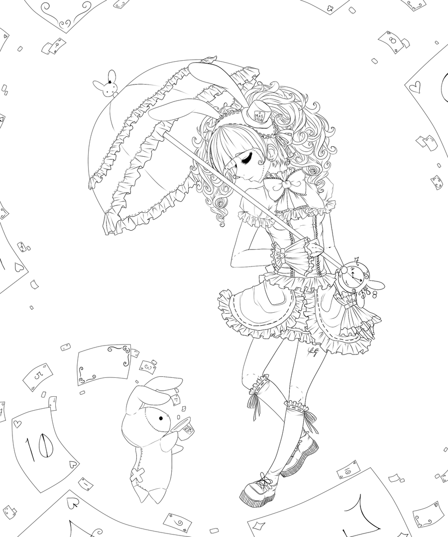 anime coloring pages shappo lineart by trinity