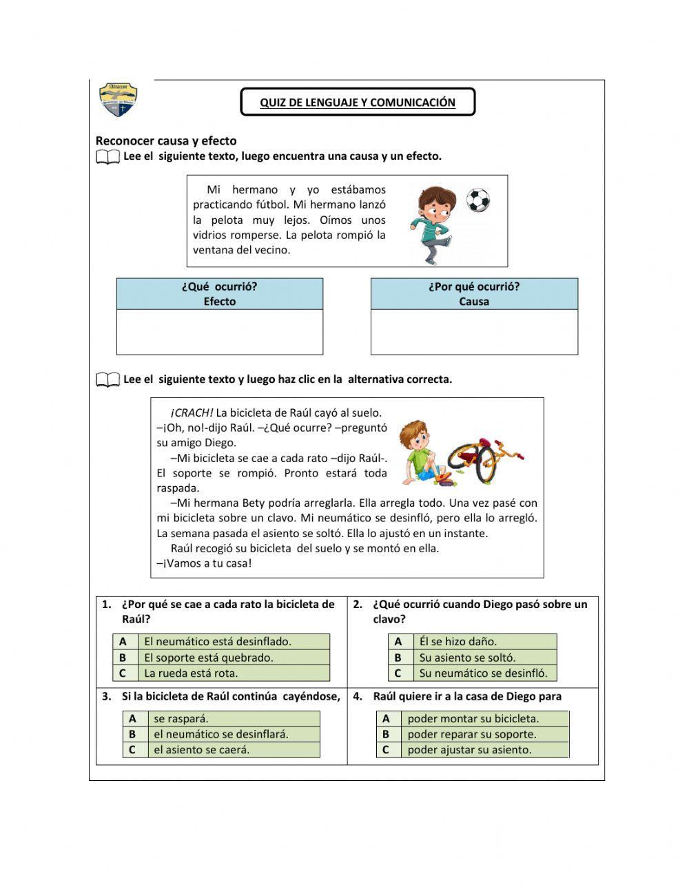 Reconocer Causa Y Efecto Ficha Interactiva Y Descargable Puedes Hacer Los Ej Estrategias De Comprensión Estrategias De Comprension Lectora Comprensión Lectora