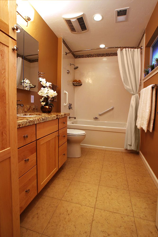 The towel bars are actually grab bars ~ talk about double duty