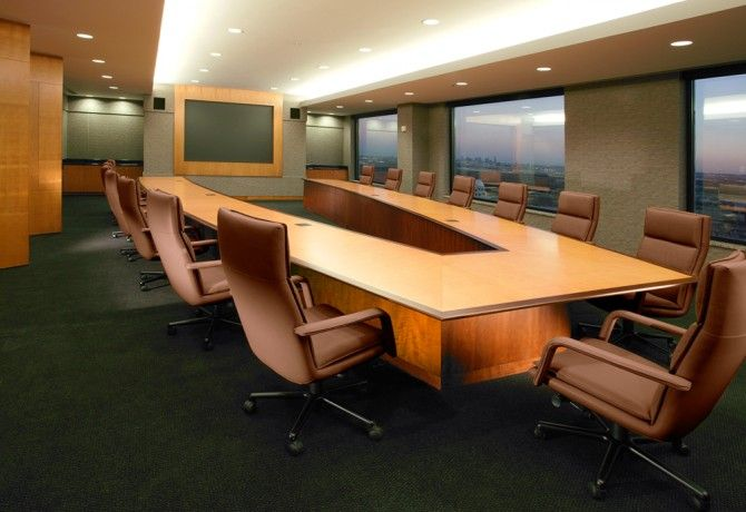 Vshaped Conference Table With Cantilevered Top And Contrasting - V shaped conference table