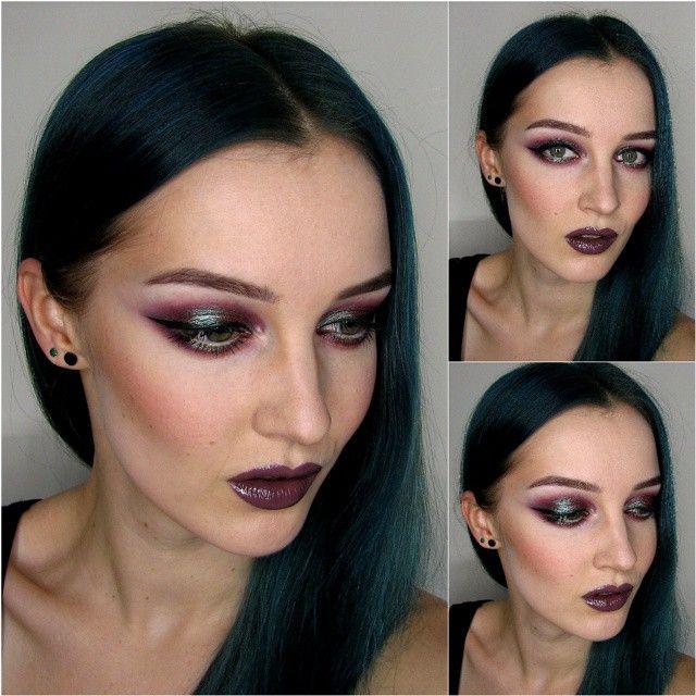 Using @maccosmetics BlueBrown pigment, @sleekmakeup Ultra Matter palette, @illamasqua Heroin eyeshadow and RichLiquidFoundation #makeup #maccosmetics #fotd #motd #illamasqua