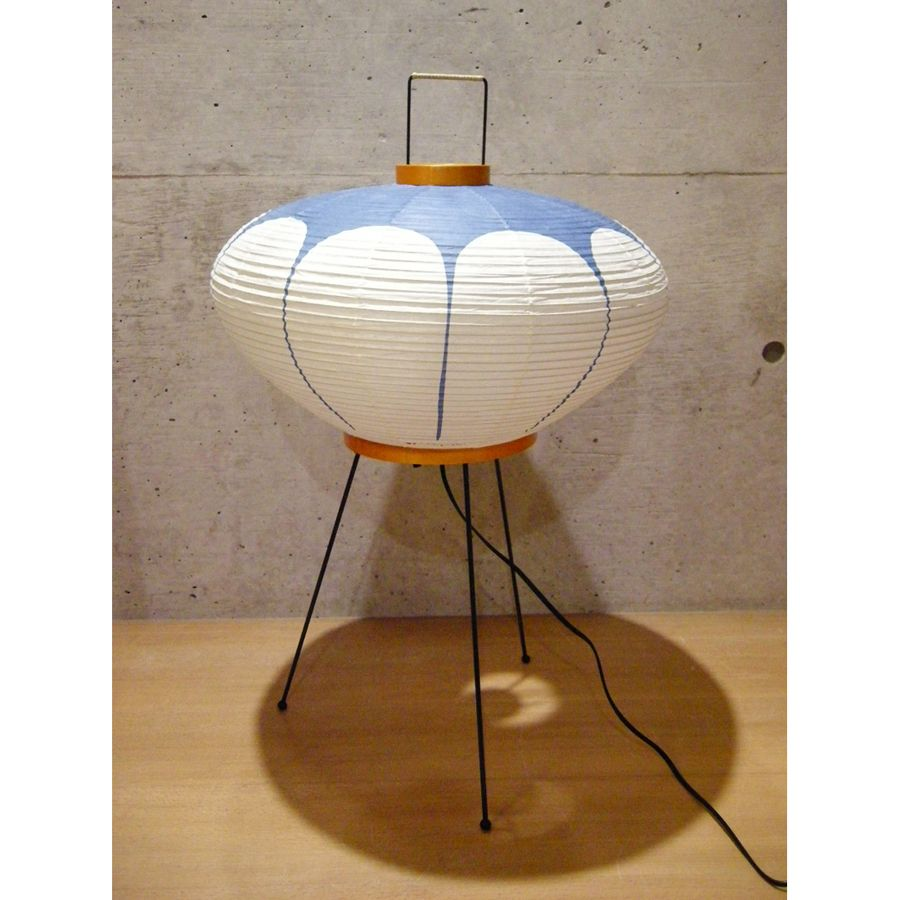 Noguchi model akari 9ad table lamp with paper lantern lamp shade noguchi model akari 9ad table lamp with paper lantern lamp shade blue audiocablefo