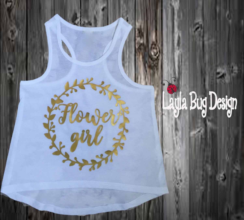 Flower Girl Shirt Flower Girl Outfit Flower Girl Top Macrame Fringe Tank Custom Shirt Flower Girl Tank Flower Girl Gift