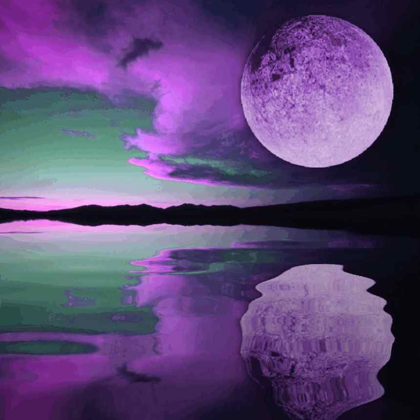 Purple Moon Sunset Background Image Wallpaper Or Texture Free For Any Web Page Desktop Phone Or Blog Beautiful Moon Purple Sky Sunset Background